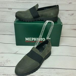 Mephisto Sz 9 Loriane Suede Leather Loafers NEW